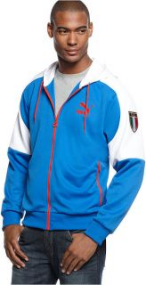 Mens Puma Italy Italia Soccer Football Hooded Kai Jacket Small s World
