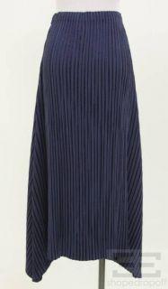 Issey Miyake Fete Blue Plisse Pleat Skirt Size 3