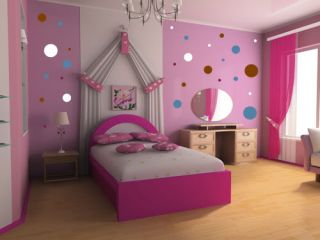 216 Polka Dots Wall Art Circle Decal Stickers 4 Colors