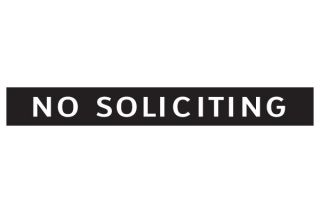 No Soliciting Vinyl Sign Window Door Decal