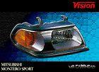 00 04 Mitsubishi Montero Sport Passenger Right Headlight Head Light RH