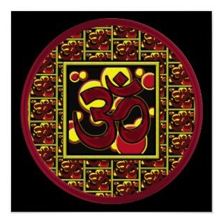 Beautiful Om Aum Symbol w/Circles and Squares Poster
