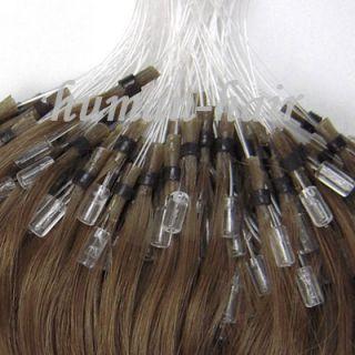 Indian Remy Loop Micro Rings Human Hair Extension 100S #10 Ash Brown