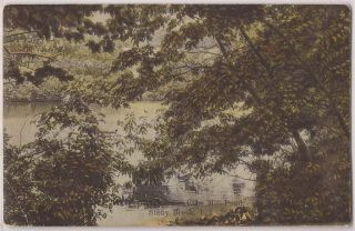 Stony Brook Long Island NY Postcard Mill Pond Scene New York LI 1909