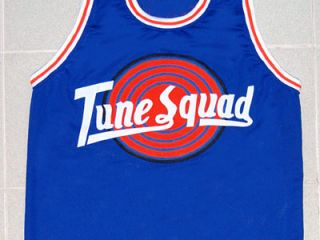 Michael Jordan Tune Squad Space Jam Movie Jersey Blue New Any Size