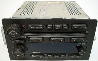 Isuzu Ascender 2005 to 2007 Car Audio Factory Bose 6 CD Disc Changer