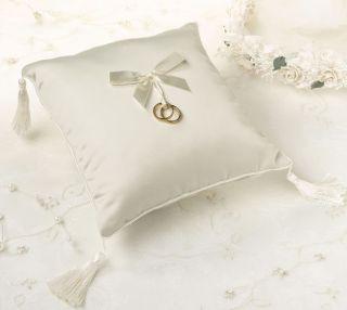 Lillian Rose Simply Ivory Wedding Ring Bearer Pillow