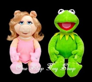 Muppets Build A Bear Miss Piggy and Kermit The Frog Puppets Too