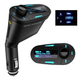 LCD Kit Car MP3 Player Wireless FM Transmitter with USB SD MMC Slot