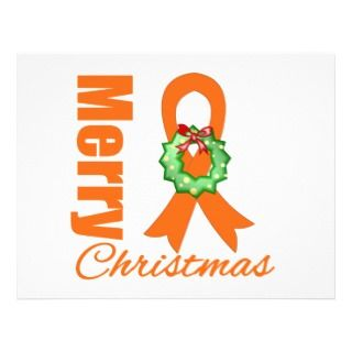Leukemia Awareness Merry Christmas Ribbon Personalized Flyer