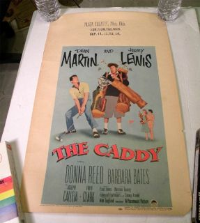 Jerry Lewis Dean Martin The Caddy Rolled Window Card 1953 Golf