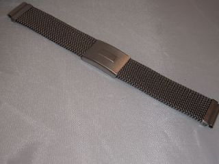 Italian Made 17mm Stainless Steel Mesh Braselet for Accutron Astronaut