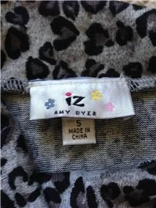 Girls IZ by Amy Byer Leopard Print Sweater Set Leggings