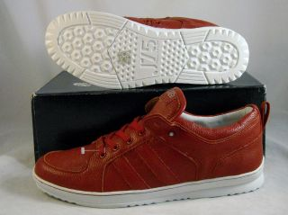 J75 by Jump Mens Low Top Leather Shoes Fight Size 12 Red Pebble