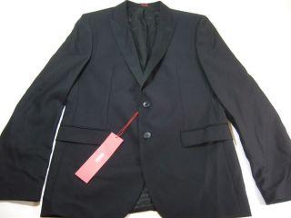Hugo Boss 100 Wool Blazer Sport Coat Mens Black 42 New