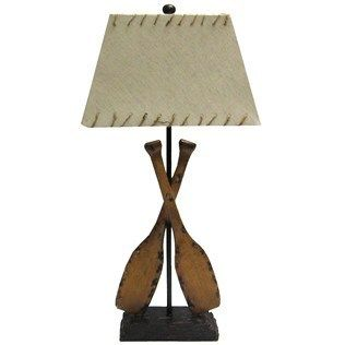 Nautical Boat Paddle Camp Fishing Fish Table Desk Accent Lamp
