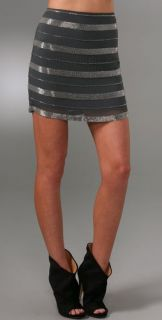 Haute Hippie Embellished Miniskirt