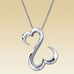 jane seymour sterling open heart pendant sterling silver EUC 4 1 grams