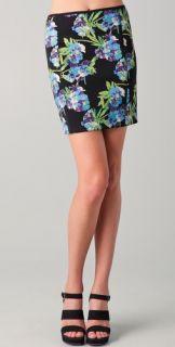 Elizabeth and James Floral Printed Scuba Skirt