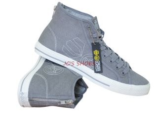 New Mens Crosshatch Canvas Hi Tops Trainers High Top Boots Sneakers