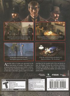 Sherlock Holmes vs Jack The Ripper Mystery PC Game New 625904739421