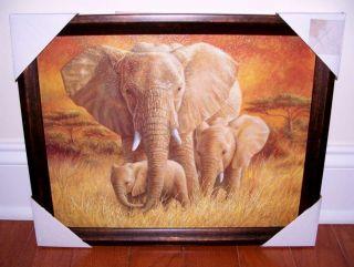 ELEPHANT Mom Babes African Interior ART Decor Elephants Safari Jungle