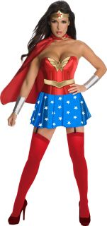 Wonder Woman Corset Sexy Hero Adult Halloween Costume