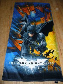 NWT Batman The Dark Knight Rises Beach Bath Towel Plush 28 x 58 Nice