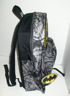 Size BATMAN School BACKPACK Book Bag Tote Dark Knight Rises DC Comics