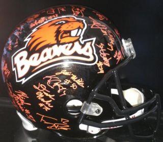 2012 Oregon St State Beavers team signed Football Helmet  CERTIFICATE