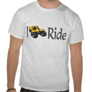 ATV Four Wheeling I Ride Yellow Tshirt
