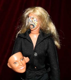 Fembot Doll Bionic Woman Lindsay Wagner Mask Kenner