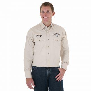 Wrangler Mens Jack Daniels Shirt L Ltd Ed Khaki Black