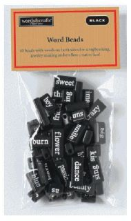 Magnetic Poetry® Poetry Word Beads Craft Kit Black 6080 New