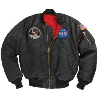 NASA Model Apollo MA1 Flight Space Jacket Mission Patches Black
