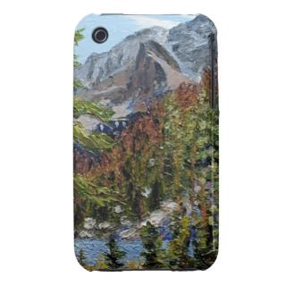 Mountain Lake Oil Landscape Painting iPhone 3 Case Mate Cases