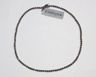 New Judith Jack Silver Marcasite Necklace Chain Womens