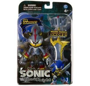 Sonic The Hedgehog Black Knight 5 inch Action Figure Excalibur Shadow