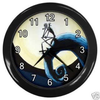 Jack Skellington cartoon Nightmare Before Christma Wall clock Black