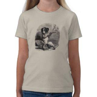 Dog Playing the Flute Vintage Illustration T Shirt