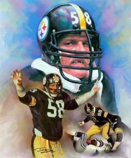 Jack Lambert Giclee Print on Canvas N 106