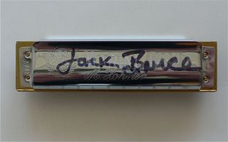 Jack Bruce Signed Harmonica Played at Cream Reunion with Letter from