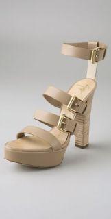 Giuseppe Zanotti Multi Strap Ankle Wrap High Heel Sandals