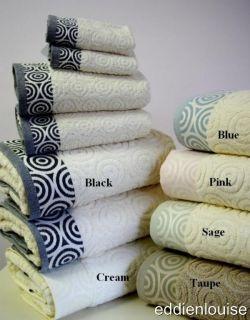 Pcs Egyptian Cotton Jacquard Water Weave Bath Towel Set Several