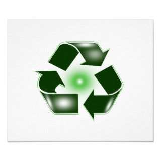 Green Recycle Logo Small Poster Print