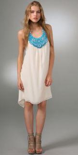 Haute Hippie Embellished Halter Dress