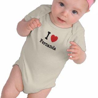 Amo la camiseta del corazón de Fernanda de