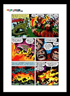 Jack Kirby Devil Dinosaur 1 RARE Production Art PG 8