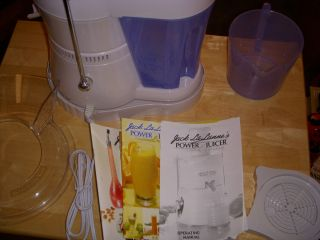 Jack Lalanne Power Juicer 250 Watts New No Box