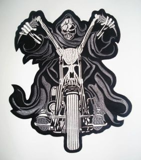 Embroidered Biker Motorcycle Back Jacket Patch